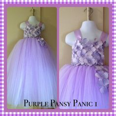 Pansy Purple Flower Girl Dress by TaylorTylersMom on Etsy, $65.00