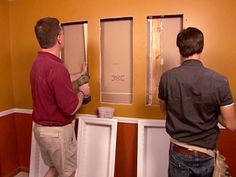 How to Install Recessed Shelving : How-To : DIY Network - for the bathroom
