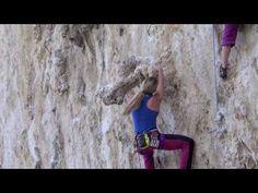 (98) Sexy girl climbing 6c+ in Kalymnos - YouTube