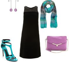 """""""LBD with aqua"""" by irenabarat on Polyvore"""