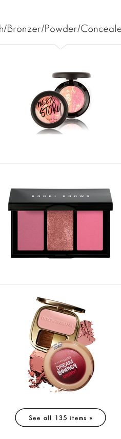 """""""#Blush/Bronzer/Powder/Concealer0.1"""" by juromi on Polyvore featuring beauty products, makeup, cheek makeup, blush, powder blush, beauty, face makeup, pink, highlight makeup i bobbi brown cosmetics"""