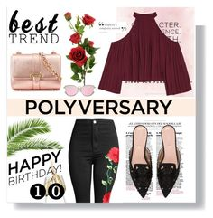 """""""Celebrate Our 10th Polyversary!"""" by fashionfreakforlife on Polyvore featuring W118 by Walter Baker, Aspinal of London, Alberta Ferretti, polyversary and contestentry"""