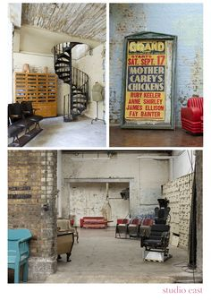 london...i love this vintage grungy apartment!