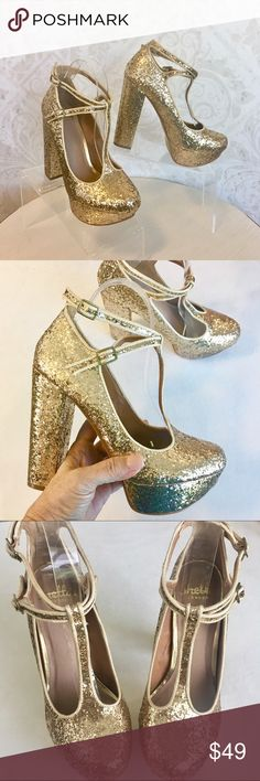 Shellys London superglam glitter party platforms NIB; details to follow Shellys London Shoes Platforms