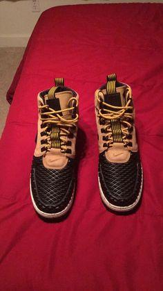 buy online 6006e 0b723 NIKE LUNAR FORCE 1 DUCKBOOT MEN S BOOT - Metallic Gold Light Bone Black   fashion  clothing  shoes  accessories  mensshoes  athleticshoes (ebay link)
