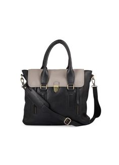 Classic Black Satchel -  Classic Black satchel Rs. 3,800.00  Availability: In stock      Description  100 % Real Leather Sophisticated and classic satchel, suitable to carry it to office and meetings A mix of grey on the flap doesn't make it too boring and monotonous Leather shoulder strap with shoulder pad makes it very comfortable Push lock enclosure 2 zip pockets on the front One main compartment with an inner pocket and mobile pocket