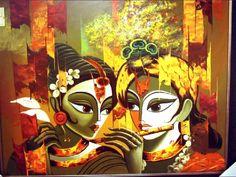Krishna Painting, Krishna Art, Radhe Krishna, Krishna Pictures, Krishna Photos, Buddha Artwork, Rajasthani Painting, Lord Krishna Wallpapers, India Painting