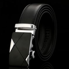 7e18cd6ecf2 New Luxury Mens Alloy Automatic Buckle Waistband Leather Belt Waist Strap  Leather Automatic Buckle Waistband Belts
