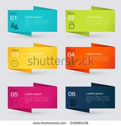 Vector colorful info graphics for your business presentations. Can be used for…
