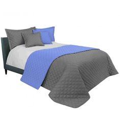 Elegantý prešívaný prehoz sivej farby 200 x 220 cm - domtextilu. Comforters, Blanket, Room, Furniture, Home Decor, Animals, Colors, Creature Comforts, Bedroom