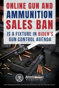 We have a new president, but will we have to face new gun control rules? So far, we know that there will be an online gun and ammunition sales ban. Learn more below! #onlinegunandammunitionsalesban #gunsalesban #gunbuying #gunsafety #guncontrolplan #guncontrollaws #gunassociation