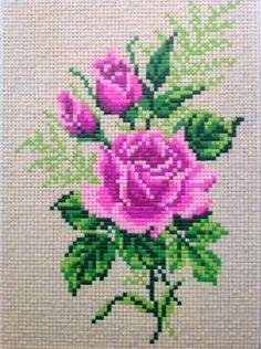Clay Mosaic - Rose made from cross stitch pattern: Hi, I love doing clay crafts. - - Clay Mosaic - Rose made from cross stitch pattern: Hi, I love doing clay crafts. I like experimenting with homemade clay recipes and see the possibili. Homemade Clay, Homemade Crafts, Diy And Crafts, Cross Stitching, Cross Stitch Embroidery, Embroidery Patterns, Cross Stitch Heart, Cross Stitch Flowers, Cross Stitch Designs