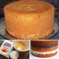 Birthday Cake Dough- Massa de Bolo de Aniversário How about learning how to make cake batter … - My Recipes, Sweet Recipes, Cake Recipes, Dessert Recipes, Favorite Recipes, Love Eat, I Love Food, Portuguese Recipes, Vanilla Cake