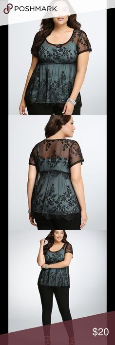Stunning Torrid Lace Peplum Top NWT Stunning Torrid Lace Peplum Top. New With Tags. Only taken out of package to try on and it does not fit. Just beautiful. torrid Tops Blouses