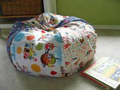Great tutorial for a bean bag chair. I have made it several tims. I use it to store stuffed animals.