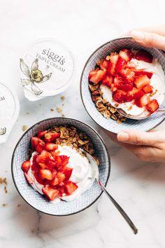Strawberry Shortcake Yogurt Bowls Recipe - Pinch of Yum