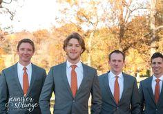 Fall Wedding In North Carolina Rustic Burlap Lace Burnt Orange