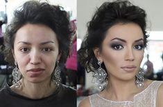 Before and After Makeup Photo