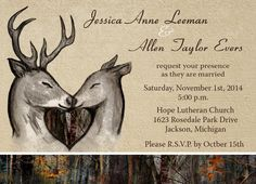 wildlife wedding invitations | Hover over image to zoom