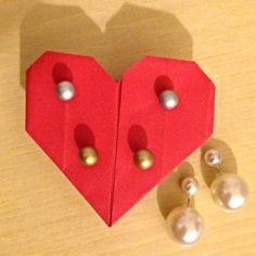 Ready to go Mise en Dior Handmade DIY Origami Red Heart White Gold Silver