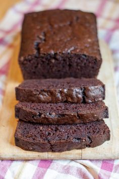 Decadent Double Chocolate Zucchini Bread.  I used this for a Birthday Cake... It was delicisious... Use chocolate Powder, 2T powder Sugar and 2T of Chocolate Coffee for frosting.. Top w/dove choc shavings.