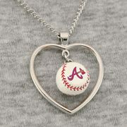Atlanta Braves 3D Baseball Heart Pendant Necklace. Yes please!! Birthday, V-day, just because gift?!!