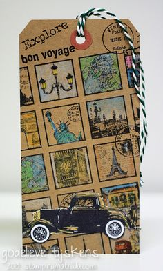 StampingMathilda: Darkroom Door stamps: Travel Inchies,Vintage Automobiles,All Occasions,Venetian Vol 1,, Montmartre colored Pencils; Archival Ink #Jet Black