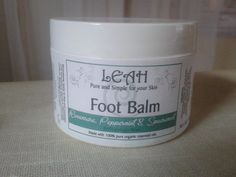 LEAH Foot Balm & Reflexology Wax  LEAH Foot Balm & Reflexology Wax is for use for both a refreshing Foot Massage and Reflexology medium. The essential oils of Spearmint and Peppermint are cooling, cleansing and stimulating, whilst the Ravensara is a strong antiviral and immunostimulant. Specially formulated for very dry & tired feet.  Directions Apply to feet and massage until absorbed or use as a reflexology medium. Use as required.  Ingredients Olea Europaea (Olive Oil)*, Shea Butt Tired Feet, Foot Massage, Reflexology, Your Skin, Peppermint, Olive Oil, Health And Beauty, Cleanse, The Balm