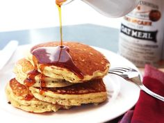 Oatmeal and Brown Butter Pancakes Recipe #buttermilkpancakesrecipebutter