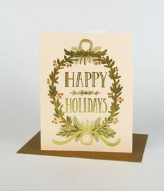 Rifle Paper Co Christmas Card - Gold Garland
