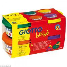Pasta para jugar GIOTTO Bebé - Colores complementarios 4 x 100 g - Fotografía n°1