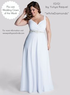 {Plus Size Wedding Dress of the Week} IGIGI ~ White Diamonds | The Pretty Pear Bride http://prettypearbride.com/plus-size-wedding-dress-of-the-week-igigi-white-diamonds/