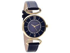 65 gbp http://www.fhinds.co.uk/ Anne Klein AK/1932NMNV Gold Plated Blue Leather Strap Watch - W8043
