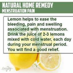 Natural Remedies For Menstrual Cramp Lemon water for your heavy, painfull periods health natural Period Remedies, Cramp Remedies, Remedies For Menstrual Cramps, Health Remedies, Ayurvedic Remedies, Natural Home Remedies, Natural Healing, Period Hacks, Period Tips