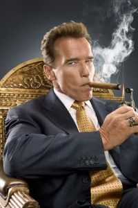 Arnold, the classic cigar smoker    http://www.acigarsmoker.com/2011/08/17/cigars-and-celebrities-in-the-news/