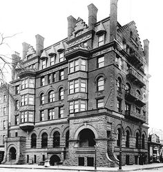 New York City ~ Manhattan | Corn Exchange Building, Harlem, 1895. By the time this magnificent building was landmarked in 1993, it was in an advanced stage of disrepair. After a fire destroyed the top two floors in 1997, the remaining upper floors eventually had to be demolished. The building was completely renovated and rebuilt in 2014 and completed in 2015. An admirable effort but not the same as the original.