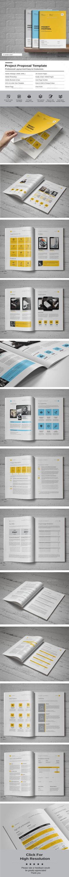 Proposal Template — Photoshop PSD #company proposal #corporate • Available here…