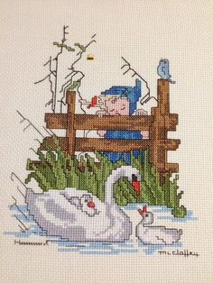 Finished Counted Cross Stitch - Hummel