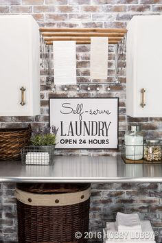 Proof that any space can be inspiring—even your laundry room!