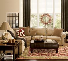 No, too brown, gold and red, curtains too dark...ugly. Sofa style is nice though.