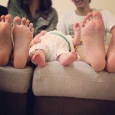 親子で足の写真