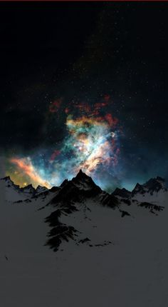 Galactic eruption - aurora borealis exquisite photo!