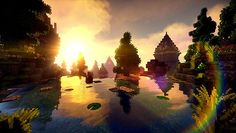'Minecraft Shader Picture' Poster by Joshua Alegria Minecraft Posters, Minecraft Art, Minecraft Shaders, Canvas Prints, Art Prints, Photographic Prints, Tapestry, Water, Painting