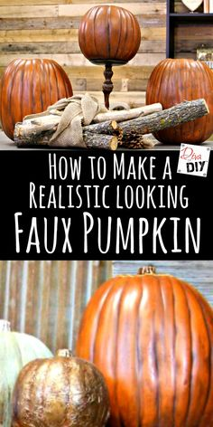 Do you like the ease of a faux pumpkin but hate the fake look? Let me show you how to make a foam pumpkin from fake to fabulous with a realistic paint wash! Fake Pumpkins, Plastic Pumpkins, Painted Pumpkins, Halloween Pumpkins, Fall Halloween, Halloween Crafts, Halloween Stuff, Vintage Halloween, How To Paint Pumpkins