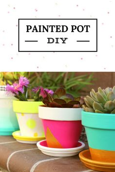 Painted Pot DIY for Spring