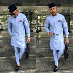 Nigerian Native Embroidery Dresses For African Men 2019 - Dabonke : Nigeria Latest Gist and Fashion 2019 Nigerian Men Fashion, African Men Fashion, Mens Fashion, Africa Fashion, Fashion Outfits, Suit Fashion, Fashion Styles, African Clothing For Men, African Shirts