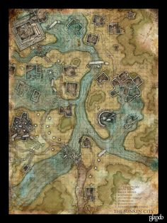 Image result for grid map dnd