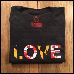 ***Note: Reprint items will be sent by Mid-November.***  Description: Love Maryland. Love Baltimore. Love Terps. Simple and plain.  Attributes: Alternative Apparel Eco-Jersey Crew T-Shirt - Tri-Blend - Size  Chart