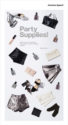 American Apparel Newsletter - Holiday Styles