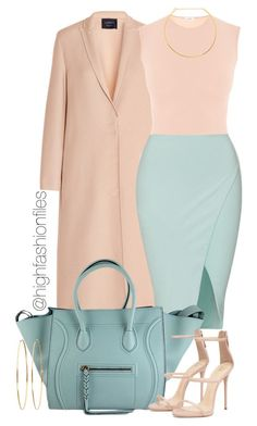 """Forever Pastel"" by highfashionfiles ❤ liked on Polyvore featuring Lanvin, CÉLINE, Jennifer Zeuner, Jennifer Meyer Jewelry, women's clothing, women, female, woman, misses and juniors"